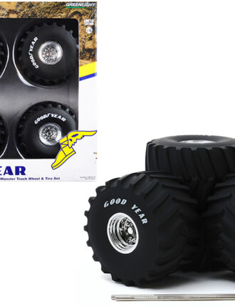 13547 66 in. Monster Truck Goodyear Wheels & Tires 6 Piece Set Kings of Crunch 1 by 18
