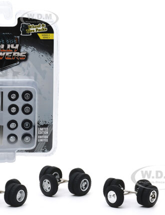 """""""Dually Drivers"""" Wheels and Tires Multipack Set of 24 pieces """"Wheel & Tire Packs"""" Series 3 1/64 by Greenlight"""