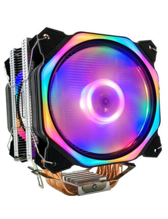 xueyufengshen cpu cooler 6 pure copper heat pipe cooling tower cooling system 12cm cpu fan radiator for amd